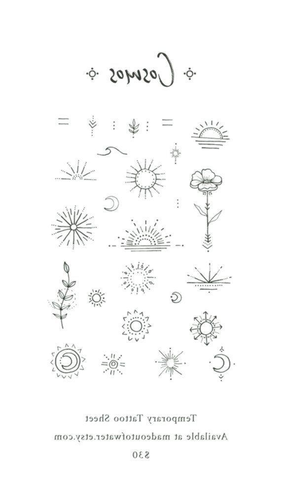 Cosmos – Temporäres Tattoo Sheet #tattooedgirls – #Cosmos #Flower #Inspirational …, #Cosmo …
