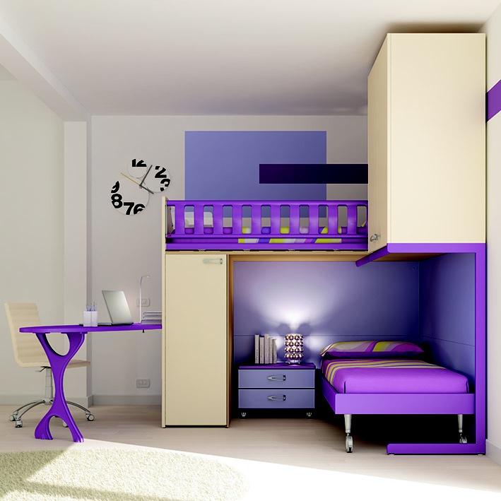 Oltre 20 migliori idee su scrivania per letto a castello - Letto a soppalco con scrivania ...