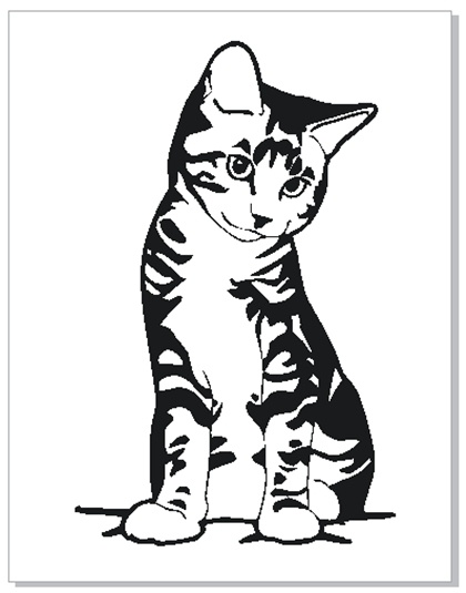 cat stencil | crafty shit | Pinterest | Stenciling and ...