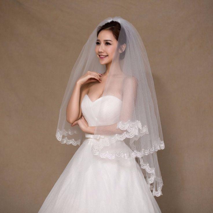 الأسهم الأبيض العاج قصيرة الزفاف الحجاب مع مشط زين حافة الحجاب الزفاف التبعي