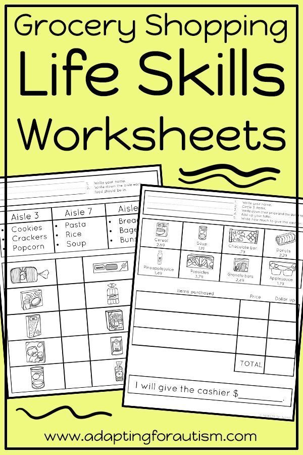 These life skills worksheets are perfect for independent work ...