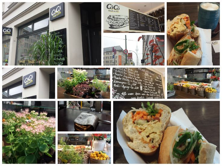 """CôCô bánh mì deli at Rosenthaler Str. 2, 10119 #Berlin. I ordered a """"bánh mì"""" (vietnamese sandwich) with """"opla"""" (with fried egg). All """"bánh mì"""" come with mayo, cucumber, tomato, fresh coriander and other herbs, pickled veggies and a special sauce. It's served in a baguette style german """"Brötchen"""", which kind of confused me. This part of the dish could be less german for my taste. But I find the """"crossover"""" and use of Berliner Brötchen to make a vietnamese sandwich dish very interesting."""