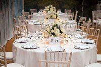 addobbo floreale dei tavoli di nozze