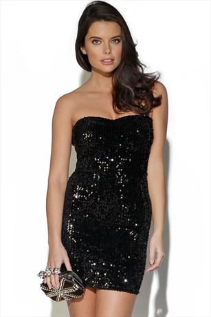 Just had to pin this Sparkle Sequin Bandeau Dress from www.vestryonline.com/