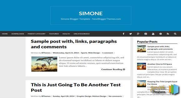 Simone Responsive Blogger Template blogger templates free blogger templates. Blogger free templates, 2014 blogger templates seo blogger themes free 2014