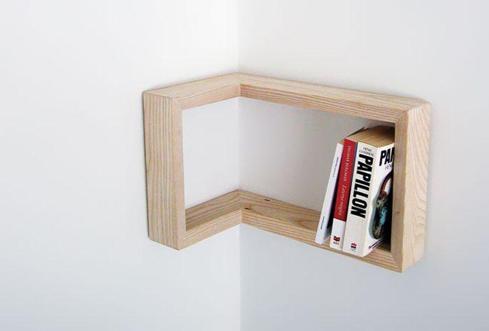 Etagère d'angle #deco #decoration #maison #etagere #angle #bois #bricolage #DIY #house #interiors #design