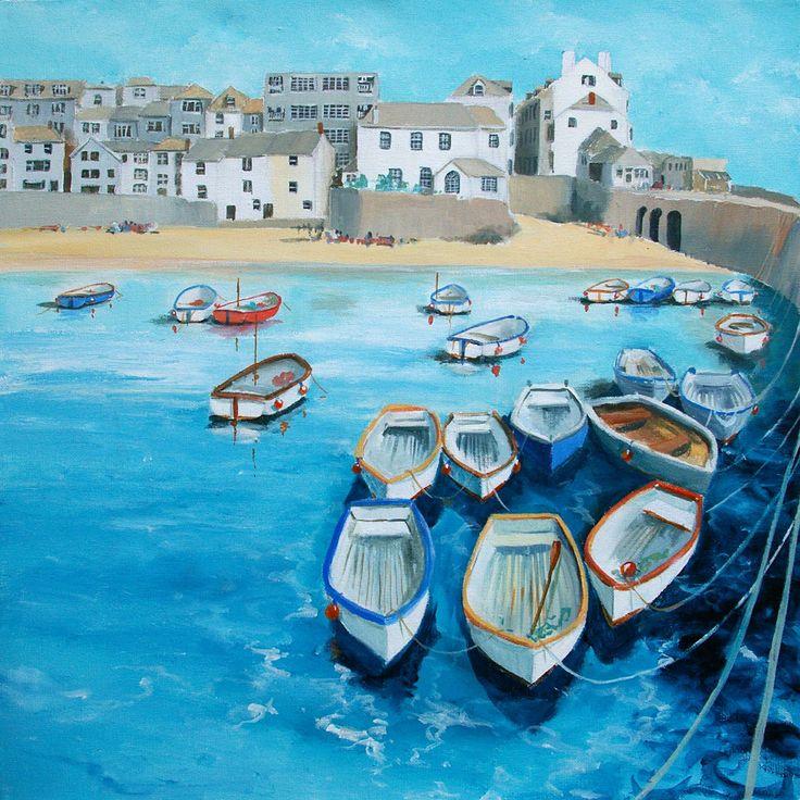 St Ives High Tide - Original Artwork - Judi Trevorrow - Cornwall Art Galleries