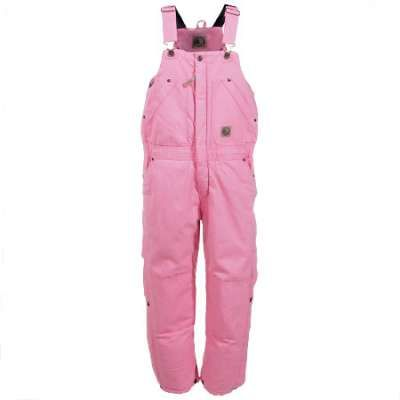 Berne Overalls: Kids BB21 BLHR Washed Duck Insulated Bib Overalls Little bodies lose a lot of heat because they're pretty much just using all of their energy all of the time. These pretty pink Berne BB21 BLHR Blush Pink Duck Insulated Kids Bib Overalls are made to keep those little bodies warm and insulated at all times. Little bodies do their most to generate heat. These bib overalls will do their best to keep them from losing it.
