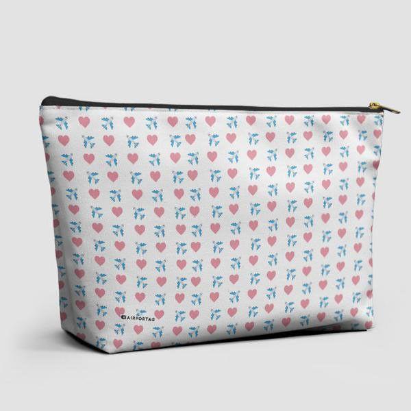 Emoji Heart Plane - Pouch Bag