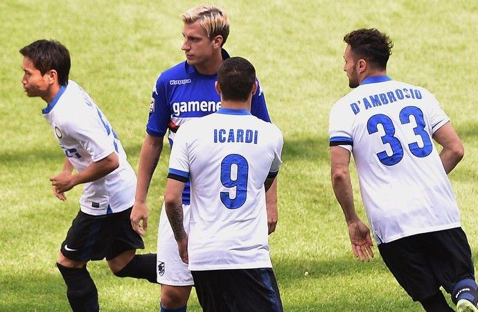 Maxi Lopez Catania não cumprimenta Mauro Icardi internazionale  (Foto: Agência Getty Images)