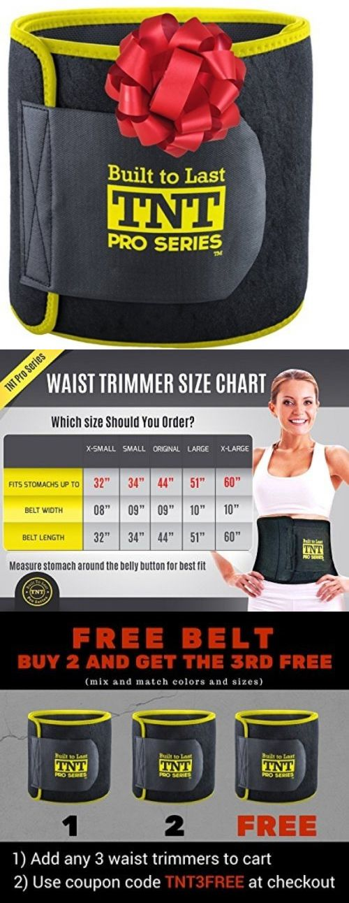 Other Weight Management: Tnt Pro Series Waist Trimmer Weight Loss Ab Belt - Premium Stomach Fat Burner BUY IT NOW ONLY: $34.69
