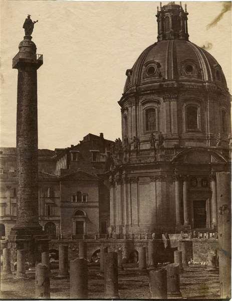 """1853/55 calotipista non identificato """"A"""" . Foro Traiano."""