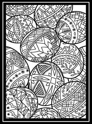 egg coloring page - advanced: inkspired musings: Easy Easter pretties and activities. Coloring pages for grownups