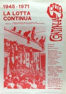 Manifestazione di Lotta Continua, 25 aprile 1971.