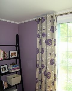 This is what the purple/lavender paint color looks in a room. (: