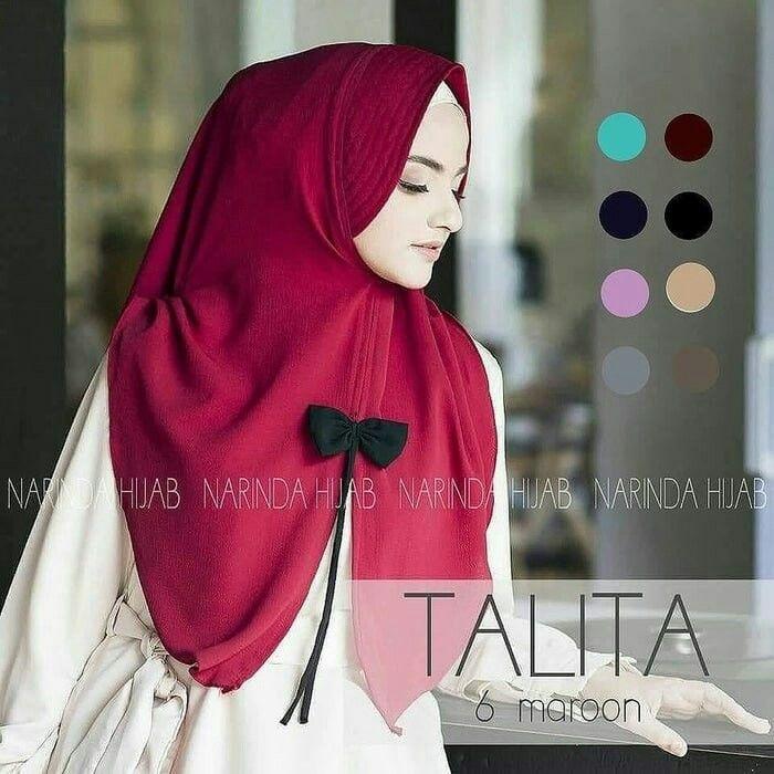 Jilbab instan / Hijab Talita Pita Tali bubble pop, jilbab terkini, jilbab modis, jilbab keren, jilbab Pesta, jilbab murah