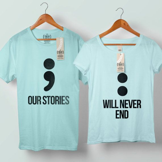 Nuestra historia nunca terminará par punto y coma por FreshTshirtCo