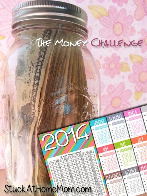 52 Week Money Challenge 2014 - You Game? #52weekmoneychallenge - StuckAtHomeMom.com