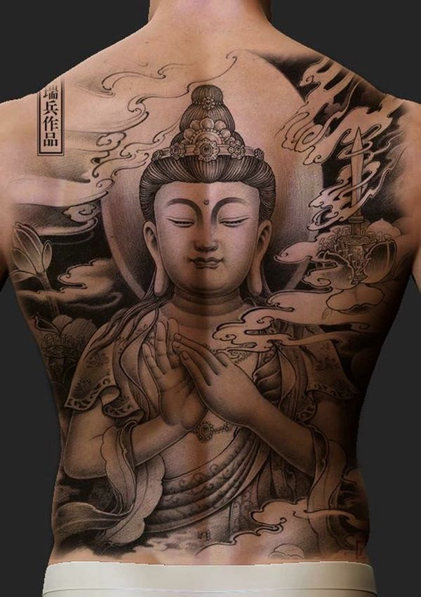 Fascinating Back Tattoos Design Ideas For Men And Women Buddha