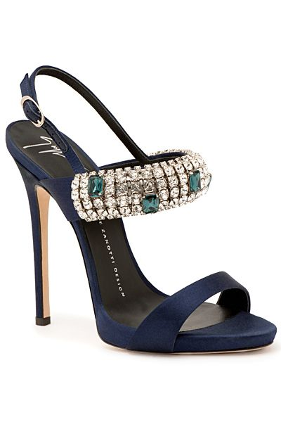 Giuseppe Zanotti Bejeweled Sandal Spring 2015 #Shoes #Heels
