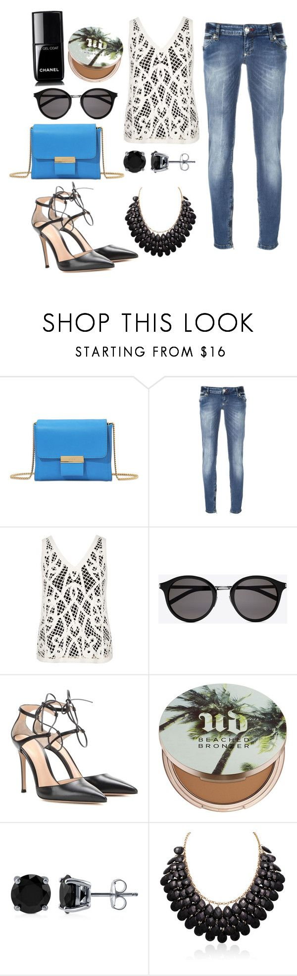 """Viva La Mexico!!"" by maringshauna ❤ liked on Polyvore featuring Gérard Darel, Philipp Plein, River Island, Yves Saint Laurent, Gianvito Rossi, Urban Decay, BERRICLE and Chanel"