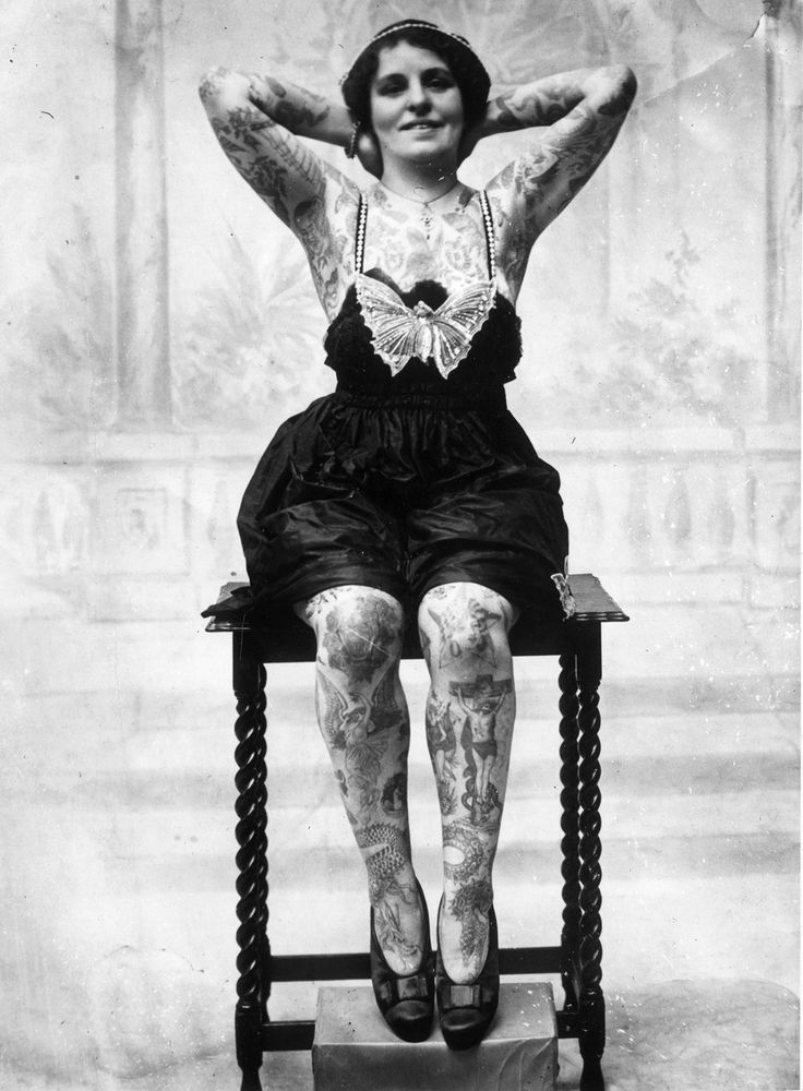 26 Badass Vintage Photos Of Tattoos From History
