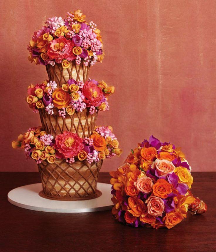 Replicate The Bouquet Wedding Cake!