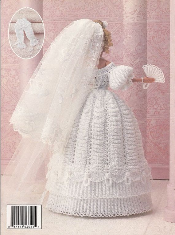 1800 s marie robe de poupe au crochet par paperbuttercup