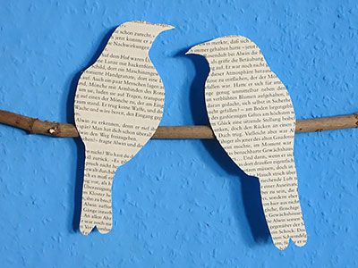 DIY Wandbild - Vogel Silhoetten Tutorial