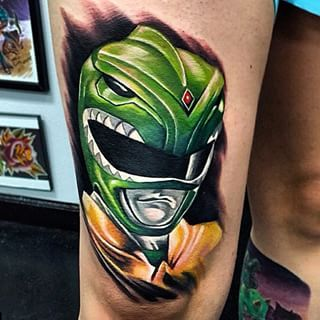 One for the Power Rangers fans. | 32 Amazing Tattoos That Will Make You Nostalgic For The '90s