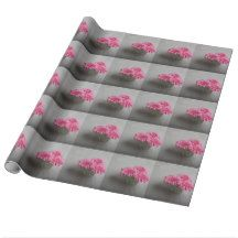 Three Pink Gerberas Wrapping Paper