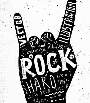 SHUTTERSTROCK - Banque d'images libres de droit + inspirations / tendances / design graphique  Vintage Label, Rock and Roll Style. Typography Elements.