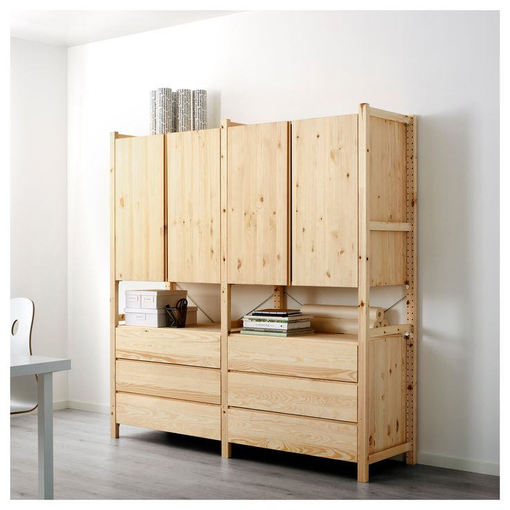 IKEA - IVAR, 2 section unit w/cabinets & chests, Untreated solid pine is a durable natural material that can be painted, oiled or stained according to preference.You can personalize the furniture even more by staining or painting it your favorite color.
