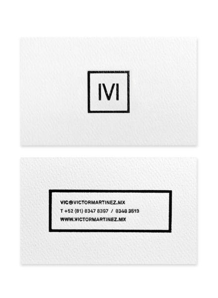 Victor Martinez business card