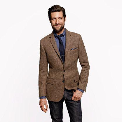 J B Ludlow Crew - Ludlow sportcoat in harvest herringbone English wool | Men's ...