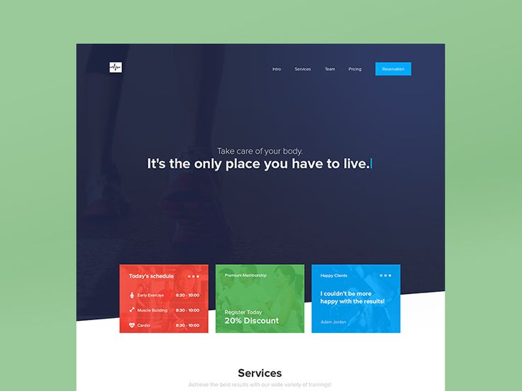 Cardio One Page Website Template