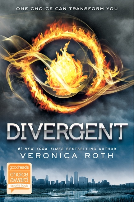 Divergent by Veronic Roth. There's been a war. A truce was reached, but the world is still uneasy. To try to keep the peace, society has been divided into five factions. Beatrice Prior must decide whether to stay with the faction of her family or join the faction where she truly belongs. Image taken from Harper Collins.