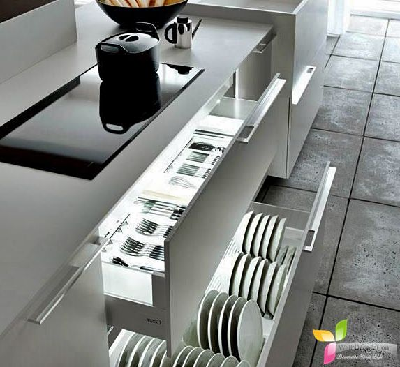 Clutter Free Kitchen With Some Creativity  Well Decoration