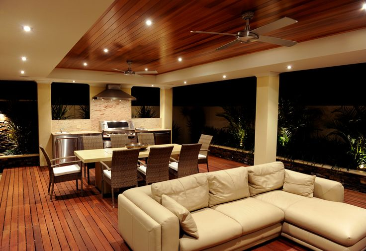 Ceiling, fan, boards, furniture, space, bbq