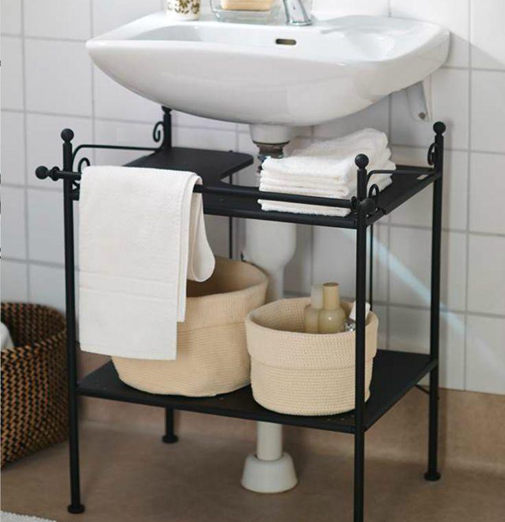 Keep a tidy bathroom with ikea ronnskar sink shelf it 39 s for Bathroom shelves ikea