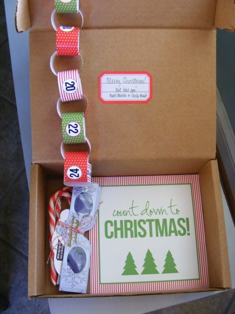 Christmas goodie box mailed out in time to start the countdown