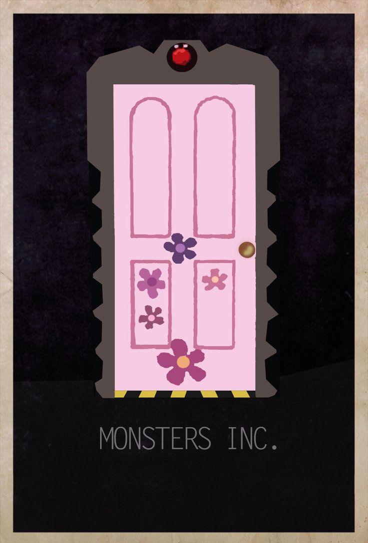 Monsters Inc. (2001) ~ Minimal Movie Poster by Edgar Ascensao ~ Movie Door Series #amusementphile