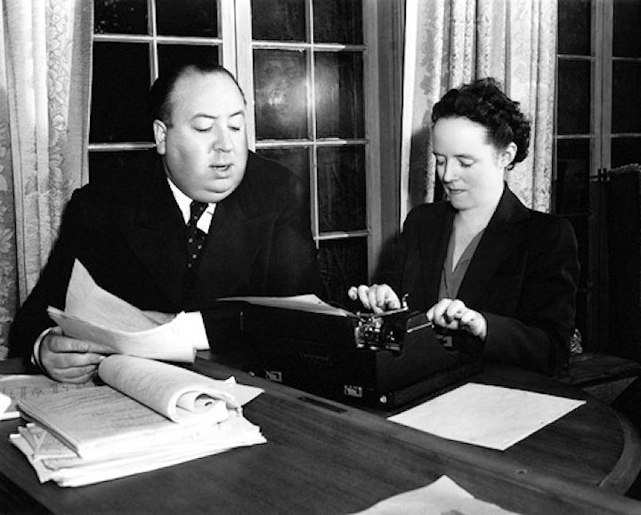 Alma Lucy Reville with her husband Alfred Hitchcock. Alma was born in St Ann's in Nottingham on 14 August 1899. | Alfred hitchcock, Hitchcock film, Alma reville