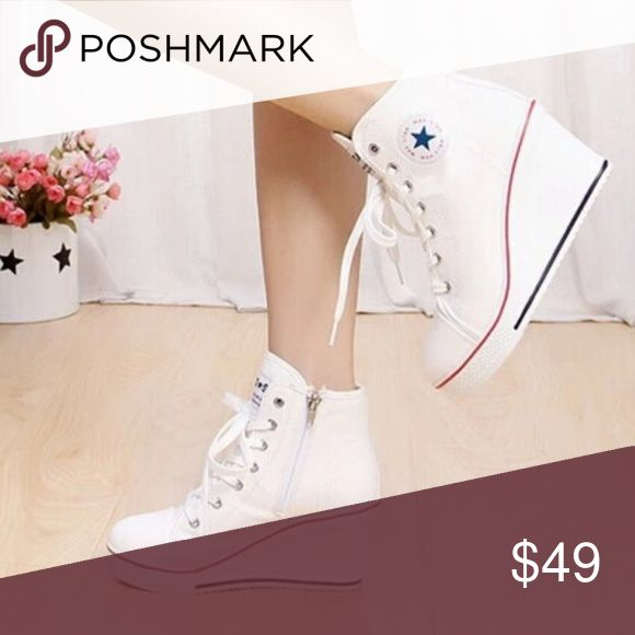Converse wedge shoes White platform wedge shoes Shoes Platforms