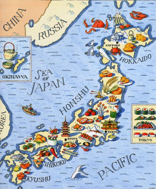 Chris Vine - Map of Japan