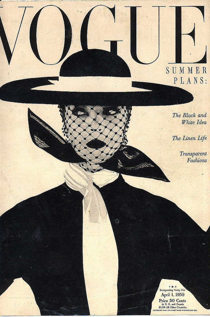 Vintage #Vogue Cover, April 1950 via Fred & Ginger Vintage