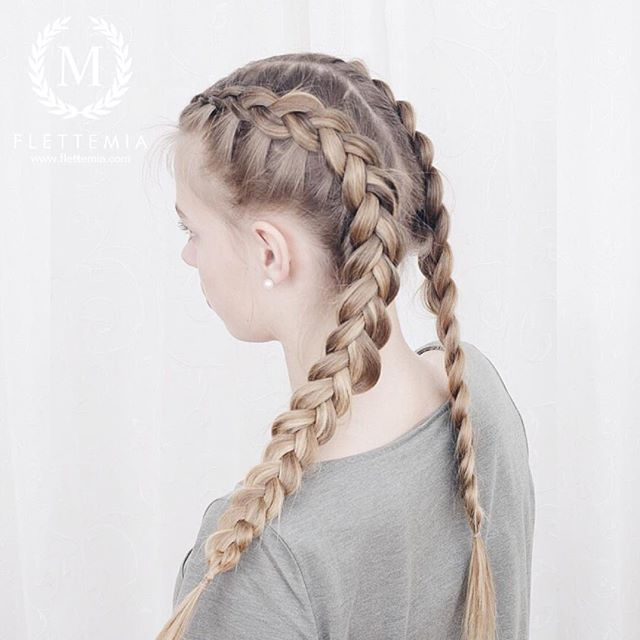 """Hollandske fletter på @julilouise  / Dutch braids on @julilouise "" Photo taken by @flettemia on Instagram, pinned via the InstaPin iOS App! http://www.instapinapp.com (04/15/2016)"