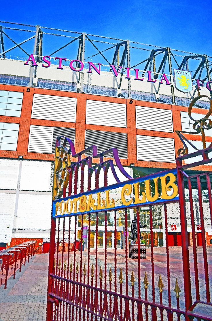 Main Gates, Villa Park, Birmingham; home of Aston Villa