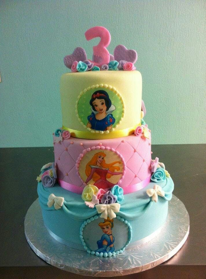 Disney Princess Birthday Cake Or One Layer With Different