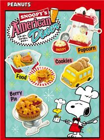 Snoopy American Diner Food Re-Ment miniature blind box